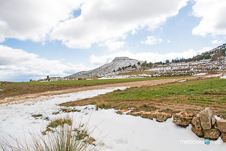 Última nevada en La Muela, Alpuente.