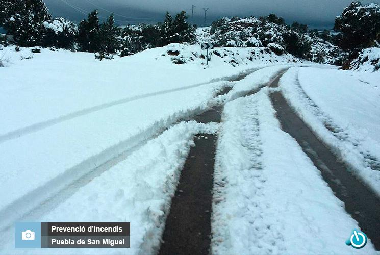 Nieve en Ademuz